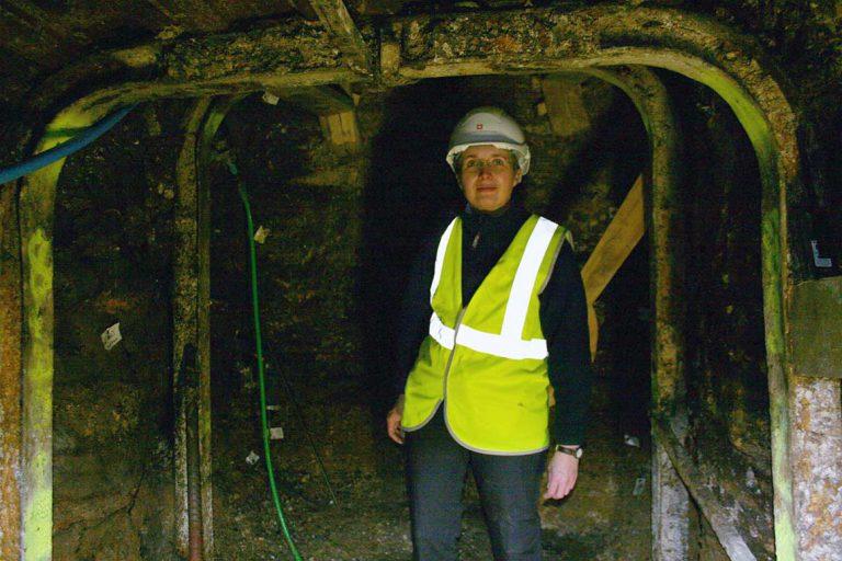 in tunnel inside silbury hill